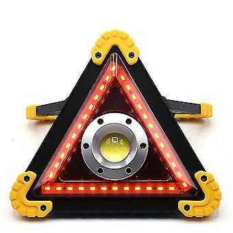 Voyant d'avertissement de trépied de voiture portable à LED, lanterne de camping extérieure USB (jaune)