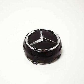 Mercedes Benz AMG Black Legerade HjulCenter Caps 75mm Hub Badges