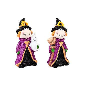 Figura decorativa DKD Home Decor Cerâmica (2 pcs) (10,5 x 9 x 19 cm)