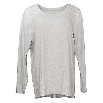 Modern Soul Women's Top Long Sleeve Tee Gray 681481