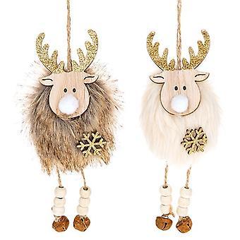 Yuletide Craft Natural Hanging Reindeer