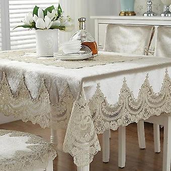 אירופה יוקרה רקומה שולחן שולחן מכסה שולחן תחרה בד עבה זהב קטיפה הביתה