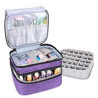 Cosmetische etherische olie zak dubbele laag draagbare nagellak zak organisator case opbergdoos