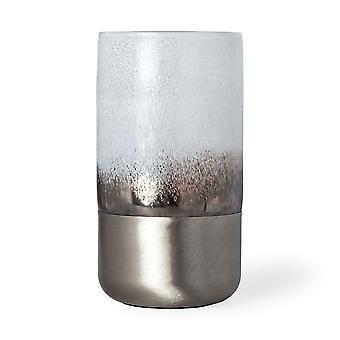 "12"" harjattu hopea lasi maljakko"