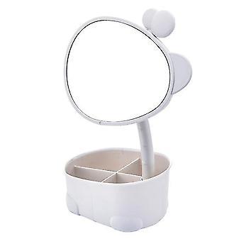 Makeup mirror cosmetic storage box protable creative beauty box detachable desktop organizer
