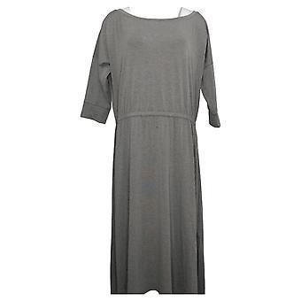 Brittany Humble Petite Dress B.E. Ready Dolman Sleeve Midi Green 753827