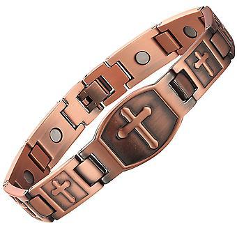 Mannen koperen armband koper armbanden retro magneet energie armbanden Europese stijl