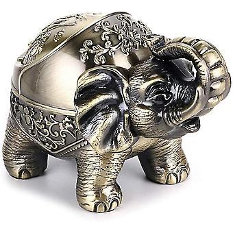 Aschenbecher mit Deckel Retro Elefanten Metall Aschenbecher drinnen und draußen