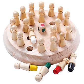 Kinder-Gedächtnisschach, Gedächtnisschach, Holz-Gedächtnisschach, Pädagogisches Holzschachspiel für Kinder, Spaßschachspiel, Kognitives Farbspielzeug für Kinder