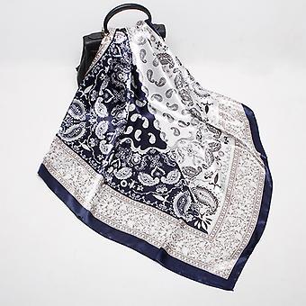 Nouveau châle d'écharpe en satin de soie imprimée pour femmes