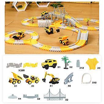 Railroad jucărie auto Track jucărie Puzzle Set flexibil Cot Racing Track intermitent Child Boy 3 4 ani de jucărie auto