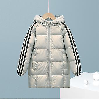 Ezüst Gyermek Down Jacket Hosszú pamut kabát fiúk és lányok gyermekruházat