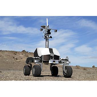 K-10 Rover Black uses its ground-penetrating radar in a polar desert environment Poster Print