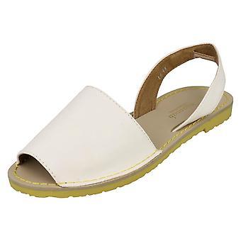 Sabana plana charol sandalias de las señoras