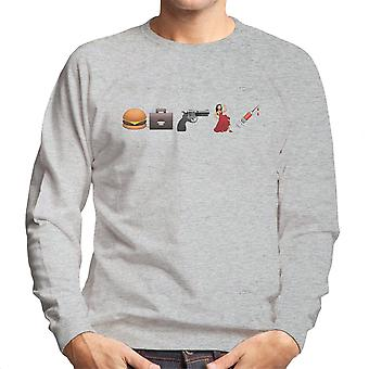 Emoji Pulp Fiction Men's Sweatshirt