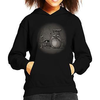 Én hátborzongató szomszéd Totoro Tim Burton Kid ' s kapucnis pulóver