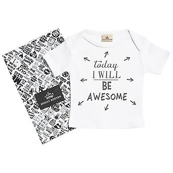 Spoilt Rotten Today I Will Be Awesome Short Sleeve Baby T-Shirt