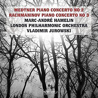 Medtner / Rachmaninov / Hamelin, Marc-Andre - Piano Concertos [CD] USA import