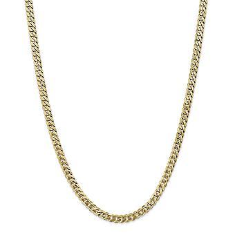 14k žlté zlato masívne leštené 5,75 mm skosený obrubník reťaz Anklet 9 palcový homár pazúry šperky darčeky pre ženy