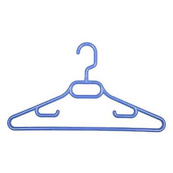 3x Childrens Blue Plastic Coat Hangers  Swivel Hook36cm from Caraselle