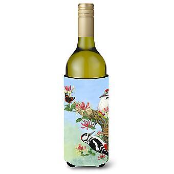 Woodpeckers Wine Bottle Beverage Insulator Hugger