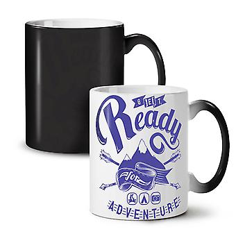 Ready Adventure Holiday NEW Black Colour Changing Tea Coffee Ceramic Mug 11 oz | Wellcoda