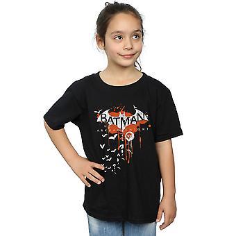 DC Comics Batman Arkham Knight Halloween Logo Kunst T-Shirt für Mädchen