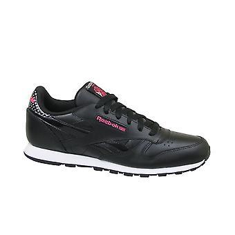 リーボック CL 革少女隊 CM9136 普遍的なすべての年の子供靴