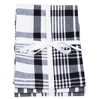 Elsker fargen sett med 3 kjøkkenhåndklær, ekte svart