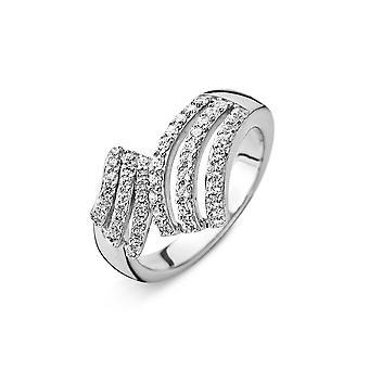 Orphelia srebro 925 pierścień Tri-Line cyrkonu ZR-3830