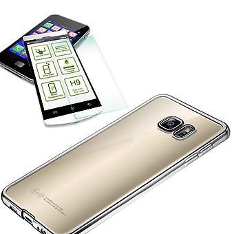 Metal Silikoncase Silber + 0,3 H9 Hartglas für Samsung Galaxy S7 G930 G930F