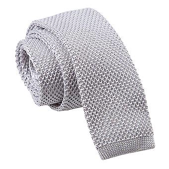 Silber gestrickt schmaler Krawatte