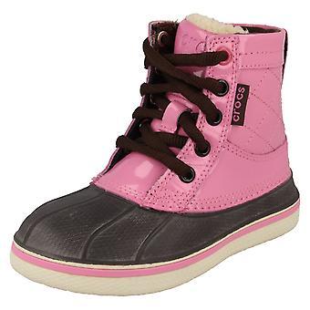 Boys/Girls Crocs Allcast Faux Fur Lined Duck Boots