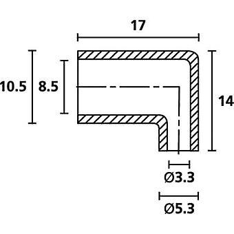 הלרמטיטון HV4821 PVC-FR NA 2000 L-שרוול מסוף Ø (מקסימום) 5.3 mm PVC שקוף 1 pc (עם)