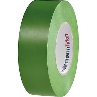 HellermannTyton HelaTape Flex 1000+ 710-10606 Electrical tape HelaTape Flex 1000+ Green (L x W) 20 m x 19 mm 1 Rolls