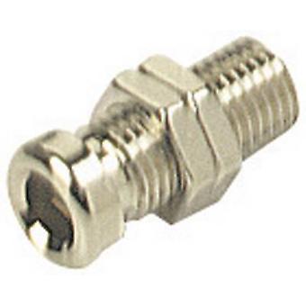 SKS Hirschmann BO 10 presa presa, diametro perno verticale verticale: 4 mm nichel-rivestito 1/PC