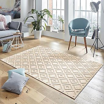 Design viscose rug Iris in relief cream