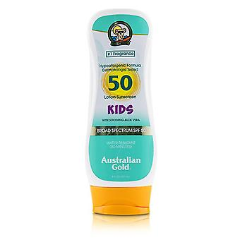 Australian Gold Lotion Sunscreen Broad Spectrum Spf 50 With Soothing Aloe Vera - For Kids - 237ml/8oz