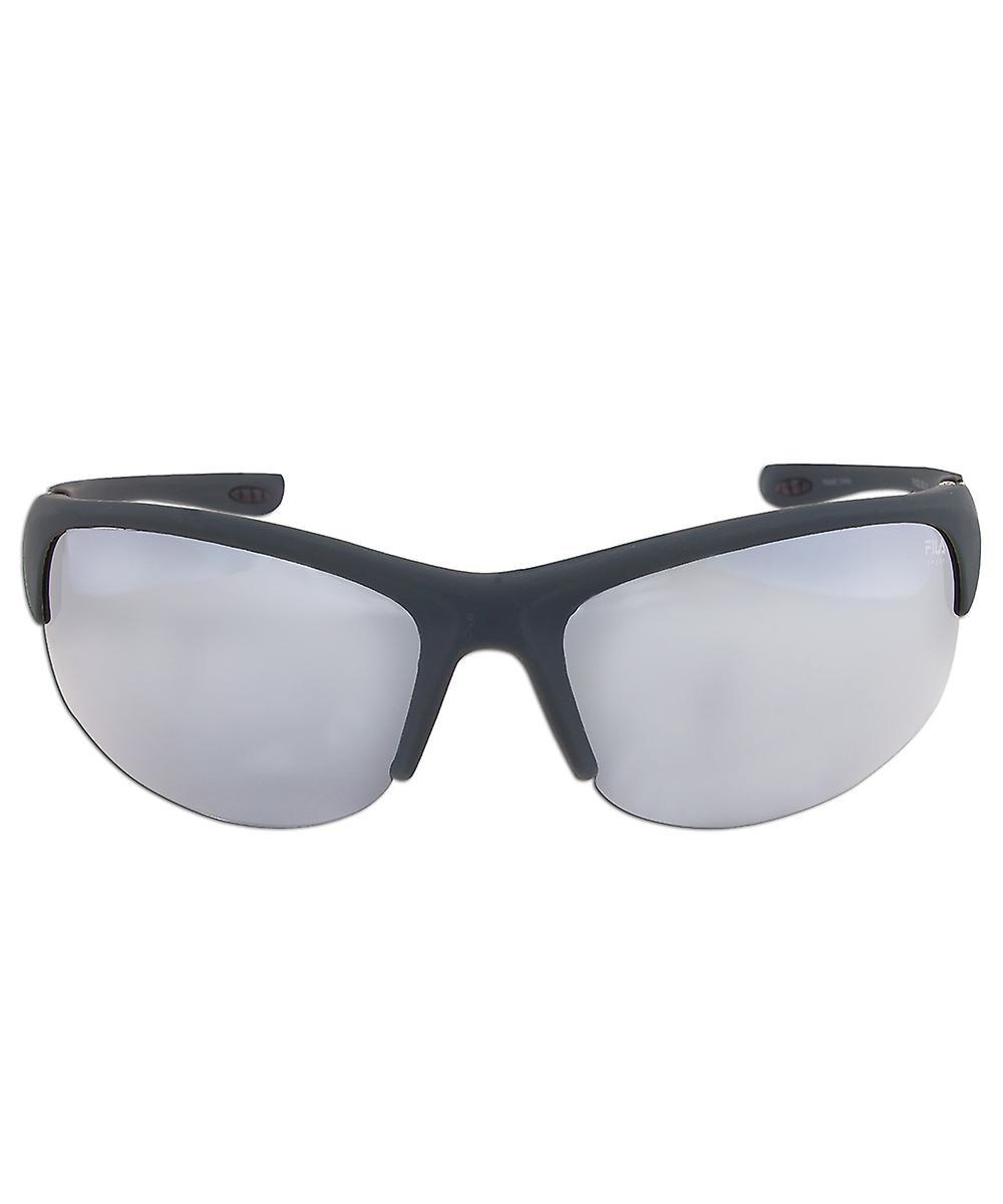 Fila Sport F1033E 035 Wrap Sunglasses | Rubberized Metallic grey Frame | grey Lenses