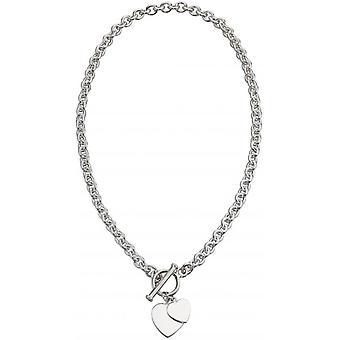 Débuts coeur Charm Toggle Necklace - Silver