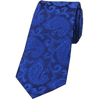 David Van Hagen Paisley tonale silke slips - kongeblå