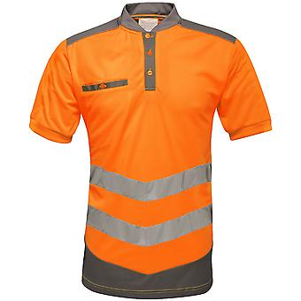Tactical Threads Mens Hi Vis Quick Dry Workwear Polo Shirt