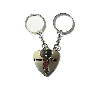TRIXES I Love You Key To Their Heart Keyring Pair