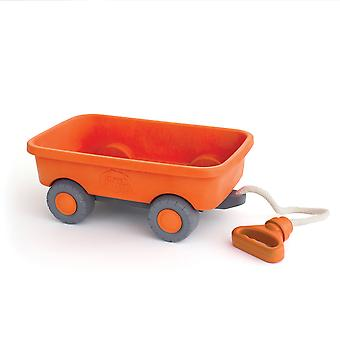 Green Toys Classic Orange Pull Along Wagon Cart BPA Free 100% Recycled