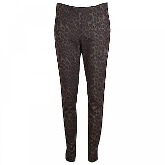 Up! Slim Fit Leopard Print Pull On Trousers