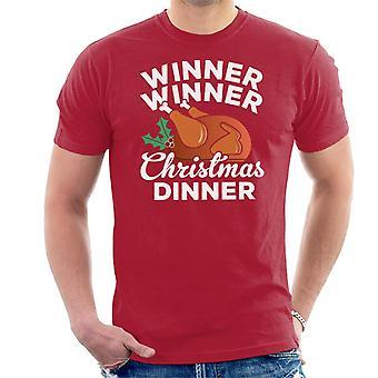 T-shirt uomo vincitore vincitore cena Natale Turchia