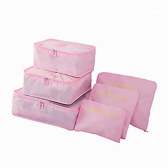Organizing set for suitcases-light pink
