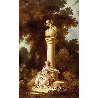 Reverie, Jean-Honore Fragonard, 60x40cm