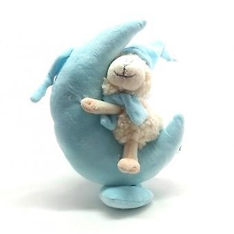 Peluche boîte à musique blue moon avec des moutons