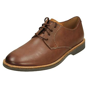 Mens Clarks Casual Lace Up Shoe Atticus Lace - Mahogany Leather - UK Size 6G - EU Size 39.5 - US Size 7M